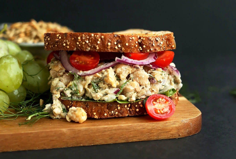 vegan recipes - no-tuna salad sandwich