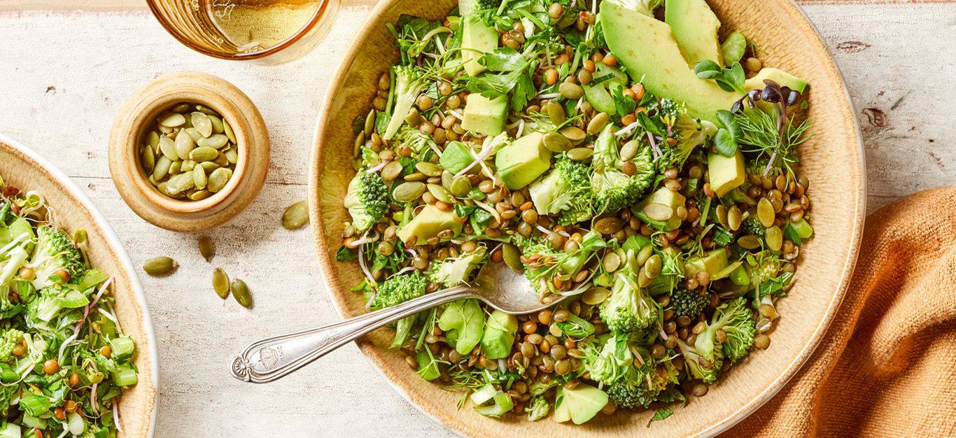 Green Lentil Spoon Salad