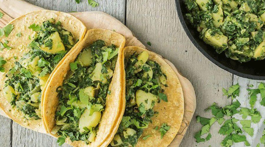 Spinach Potato Tacos, diabetes, carbohydrates