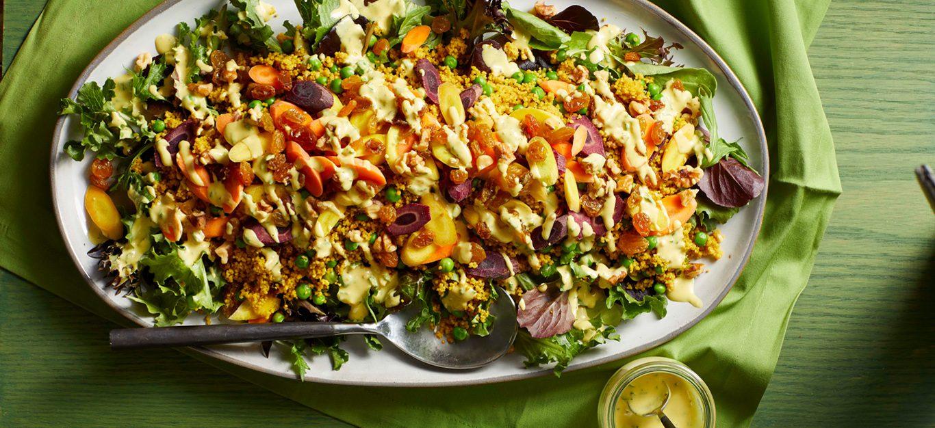 farmers market couscous salad